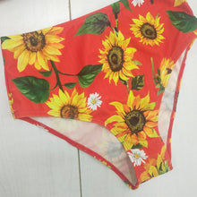 Load image into Gallery viewer, Sunflower Push-up Padded Off Shoulder Short Sleeve High Waist Bikini Set
