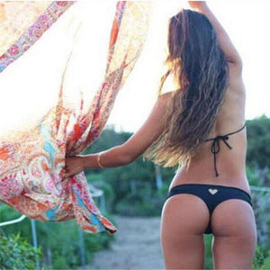 Heart T-Back Beachwear Bikini