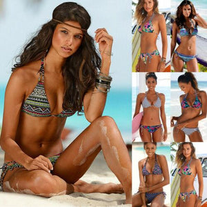 Strap Floral Bikini Set Two Piece