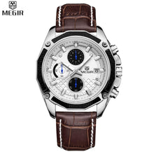 Load image into Gallery viewer, MEGIR Quartz Genuine Leather watches