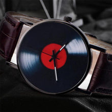 Load image into Gallery viewer, Retro Vinyl Records Design Leather Watch