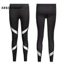 Load image into Gallery viewer, Sexy Women Leggings Gothic Insert Mesh Design Trousers Pants