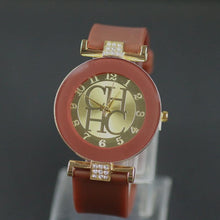 Load image into Gallery viewer, Fashion Brand Gold Geneva sport Watch