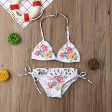 Load image into Gallery viewer, Hot Kid Baby Girls Embroidery Floral Bikini Set