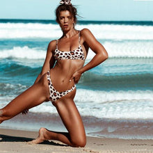 Load image into Gallery viewer, Sexy Leopard Print Push Up Padded Beach Bikini