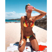 Load image into Gallery viewer, 2pcs Women Push up Bikini Set Swimwear Bra