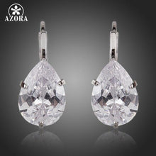 Load image into Gallery viewer, Brand Design Pear Cut Clear Cubic Zirconia Water Drop Earrings