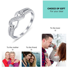 Load image into Gallery viewer, 925 Sterling Silver Infinity Rings for Women Endless Love Symbol Wedding Ring Fashion Jewelry Gift