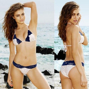 Sequin Swimming Suit Push Up Beach Swimwear Triangle Bra