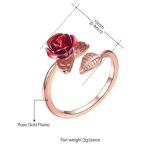 Load image into Gallery viewer, Hot Sale Rings Adjustable Rose Flower Gold Color Opening Finger Rings For Women Valentine's Day Gift