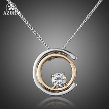 Load image into Gallery viewer, Classic White Gold Color White Stellux Austrian Crystal Pendant Necklace