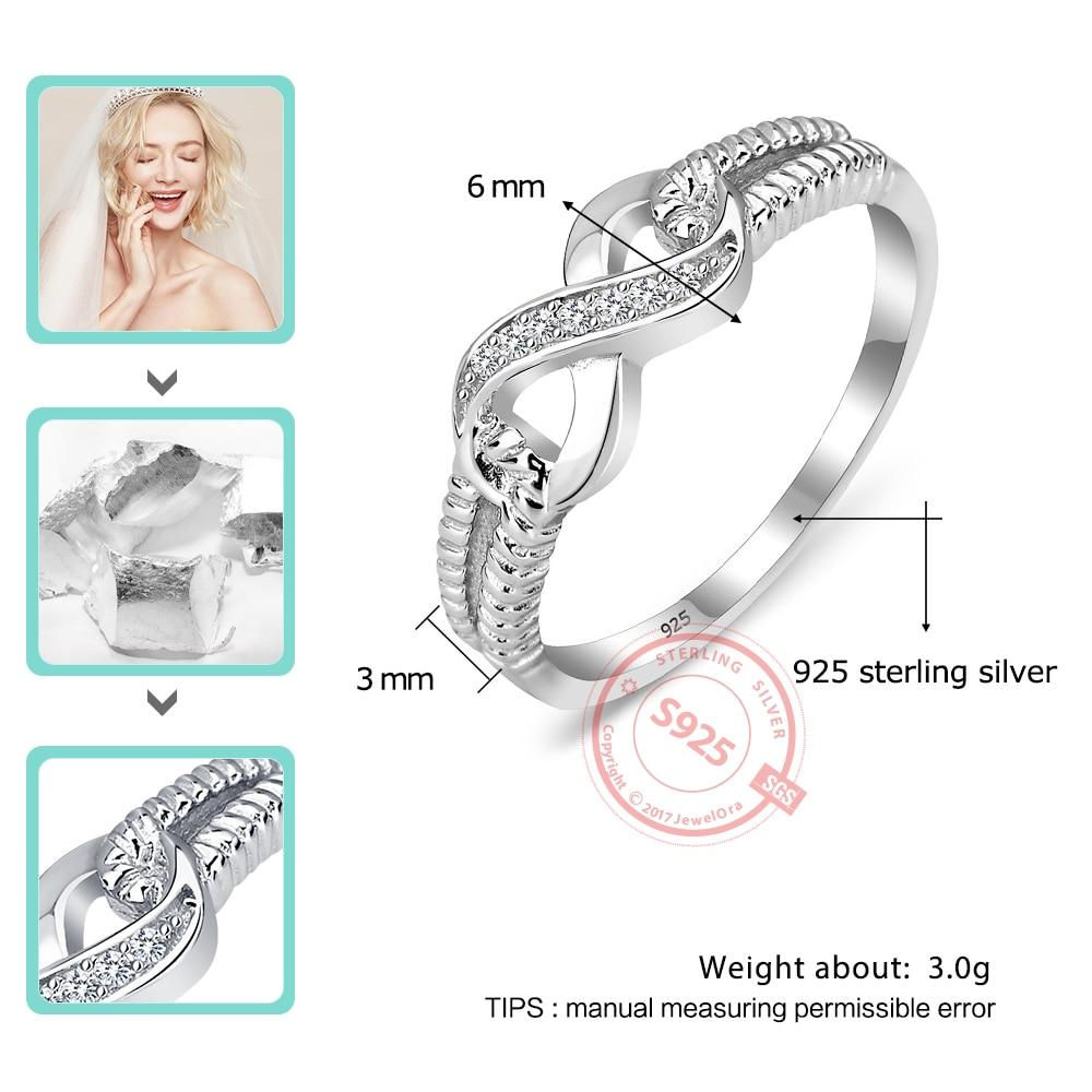 925 Sterling Silver Infinity Rings for Women Endless Love Symbol Wedding Ring Fashion Jewelry Gift