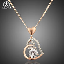 Load image into Gallery viewer, Rose Gold Color Stellux Crystals Heart Pendant Necklace for Valentine's Day Gift of Love