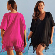 Load image into Gallery viewer, Chiffon V-neck Bikini Cover Ups