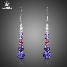 Load image into Gallery viewer, Multicolour Round Stellux Austrian Crystal Wedding Drop Earrings For Women