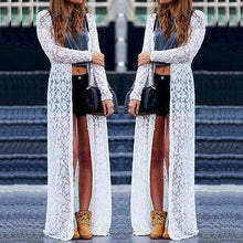 Load image into Gallery viewer, Lace Cardigan Blouse Long Tops Dress