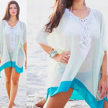 Load image into Gallery viewer, Lace Beach Cotton V-neck Cover up