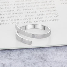 Load image into Gallery viewer, Personalized Ring Customize Engraved Names 3 Colors Available Adjustable Rings for Women Anniversary Jewelry