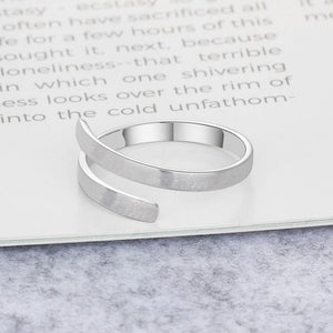 Personalized Ring Customize Engraved Names 3 Colors Available Adjustable Rings for Women Anniversary Jewelry
