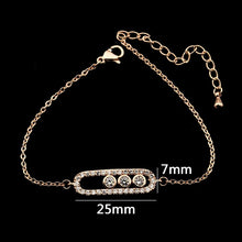Load image into Gallery viewer, Stainless Steel Bracelet Femme Acier Inoxydable Charms 1& 3 Bead Geometric Gold Bracelets For Women Hand Bracelet Jewelry