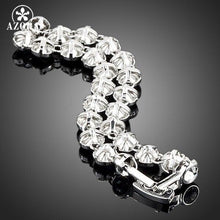 Load image into Gallery viewer, White Gold Color Stellux Austrian Crystal Multicolour Round End to End Bracelet
