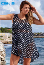 Load image into Gallery viewer, Chiffon Plus Size Women Dot Bikini Cover Up