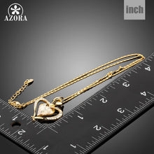 Load image into Gallery viewer, Long Link Chain Heart Austrian Crystal Gold Color Heart Pendant Necklace for Valentine's Day Gift of Love