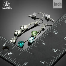 Load image into Gallery viewer, Elegant Charm Earrings for Women With 3pcs Water Drop Stellux Austrian Crystal Dangle Wedding Earrings