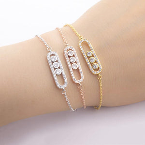 Stainless Steel Bracelet Femme Acier Inoxydable Charms 1& 3 Bead Geometric Gold Bracelets For Women Hand Bracelet Jewelry