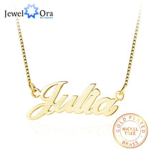 Load image into Gallery viewer, Personalized Nameplate Necklace 3 Colors Copper Name Necklaces for Women Customized Your Name Jewelry Best Friend Gift