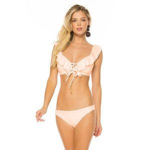 Ruffle Bandage Cross Push up Triangle Padded Bra