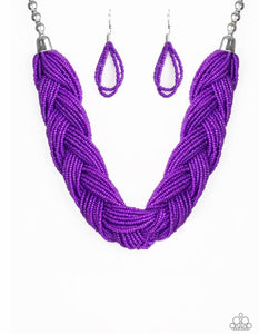 The Great Outback - Purple Seed Bead Necklace