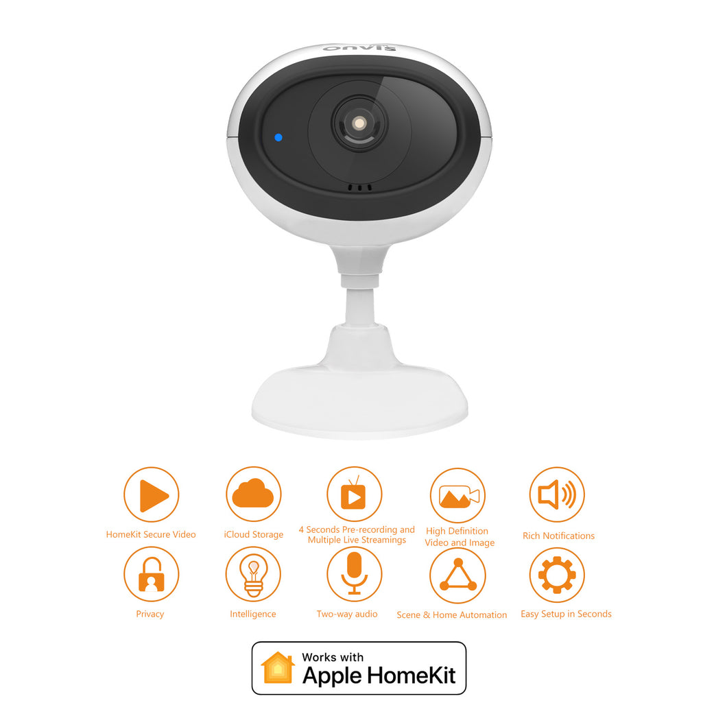 ONVIS HomeKit Secure Video Camera with 1080P 30fps Live Streaming HDR Night Vision No Monthly Fee