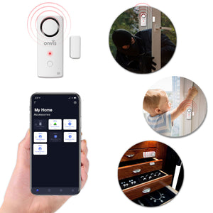 ONVIS Smart Home Security Burglar Alarm Door Window Contact Sensor Works with Apple HomeKit Temperature Humidity Thermometer Hygrometer