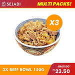 3 packs x Japanese Beef Bowl (150g)
