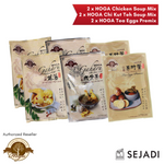 HOGA Agarwood Organic Soup Mix Value Pack (2 x HOGA Chicken Soup + 2 x HOGA Chi Kut Teh Soup, 2 x HOGA Tea Eggs Premix)