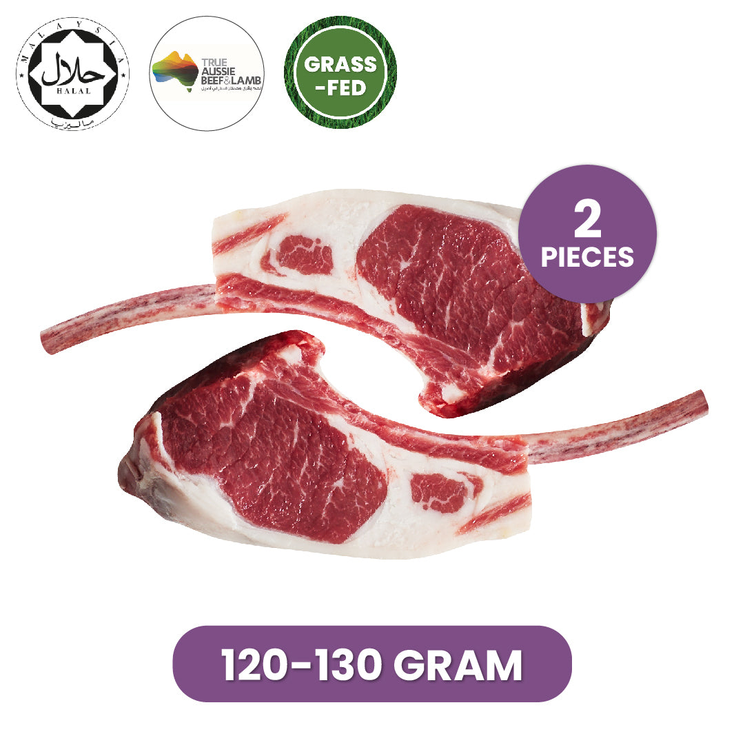 Great Southern Lamb Rack French Cut, 2 pieces per pack (120g - 130g)