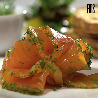 Smoked salmon mustard and dill