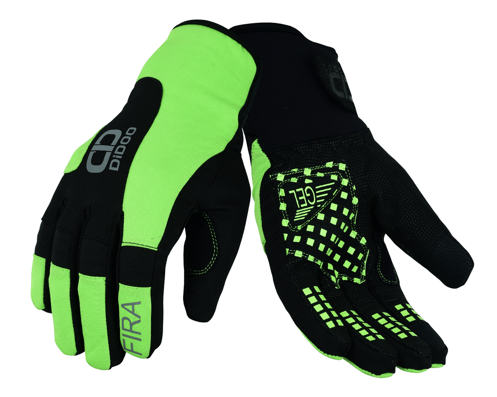 Men's Cycling Gloves in green & black