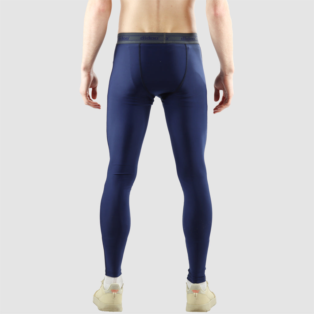 Navy blue DiDOO Men's Compression Base Layer Leggings