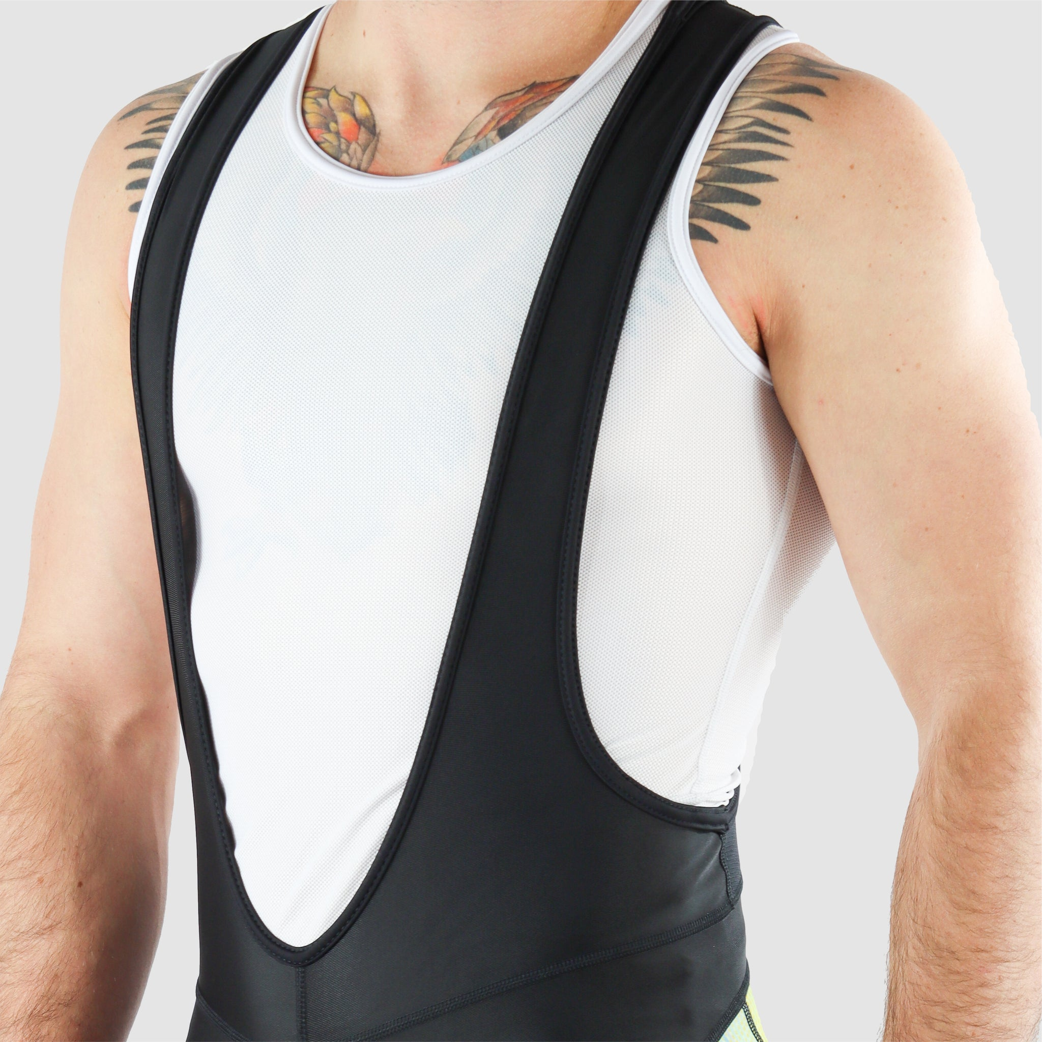 DiDOO Men's Classic Quick Dry Padded Cycling Bib Shorts Black and Yellow