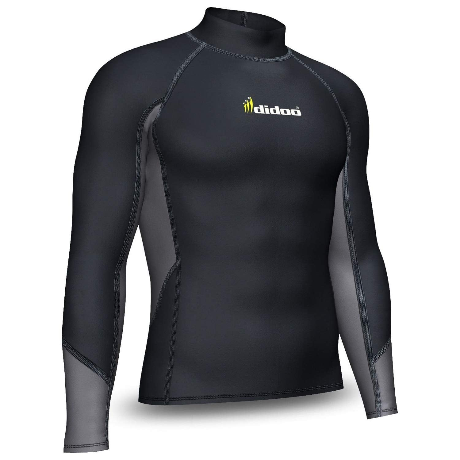 DiDOO Men's Compression Thermal Baselayer Top Long Sleeve Mock Neck