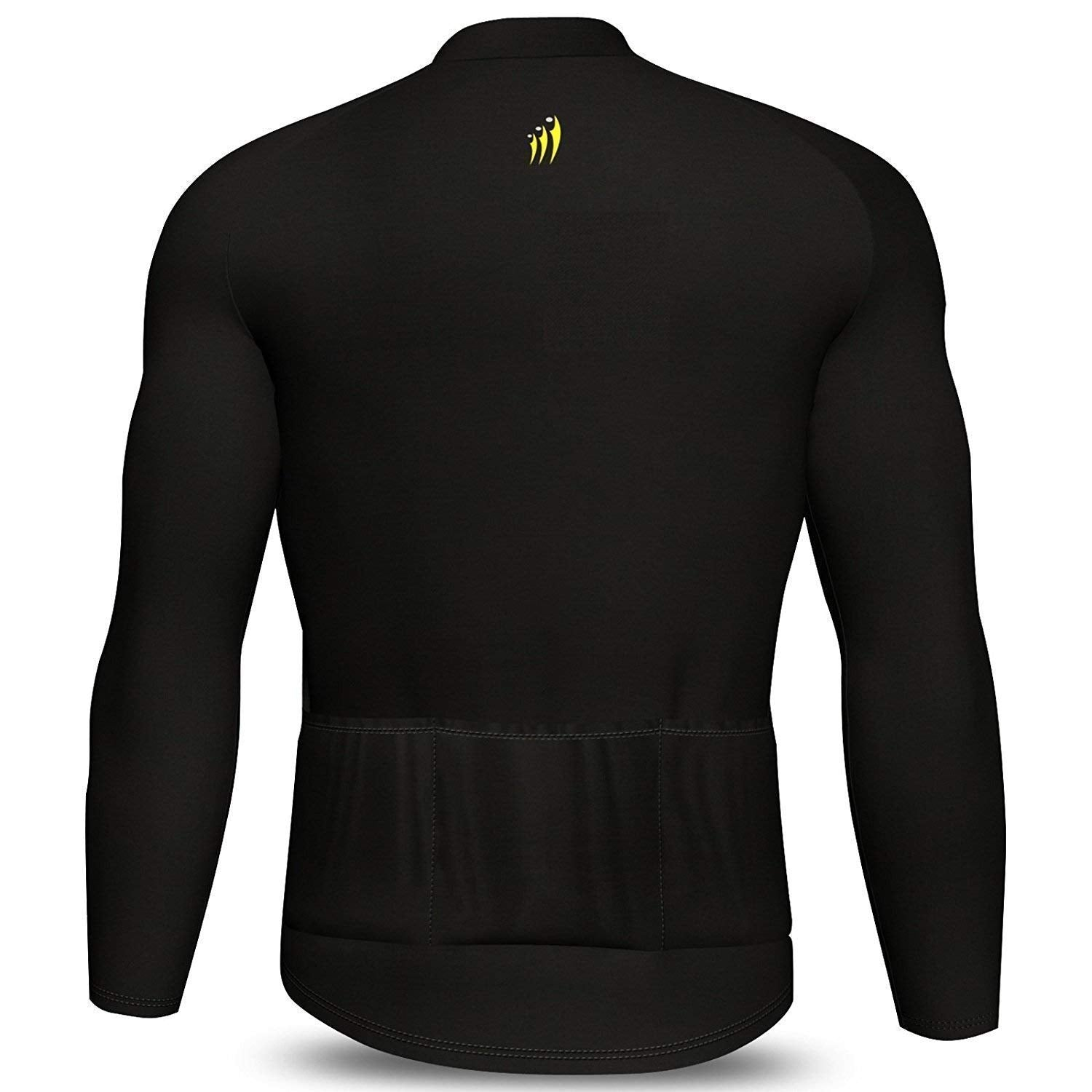 DiDOO Men's Classic Winter long sleeve thermal cycling jersey