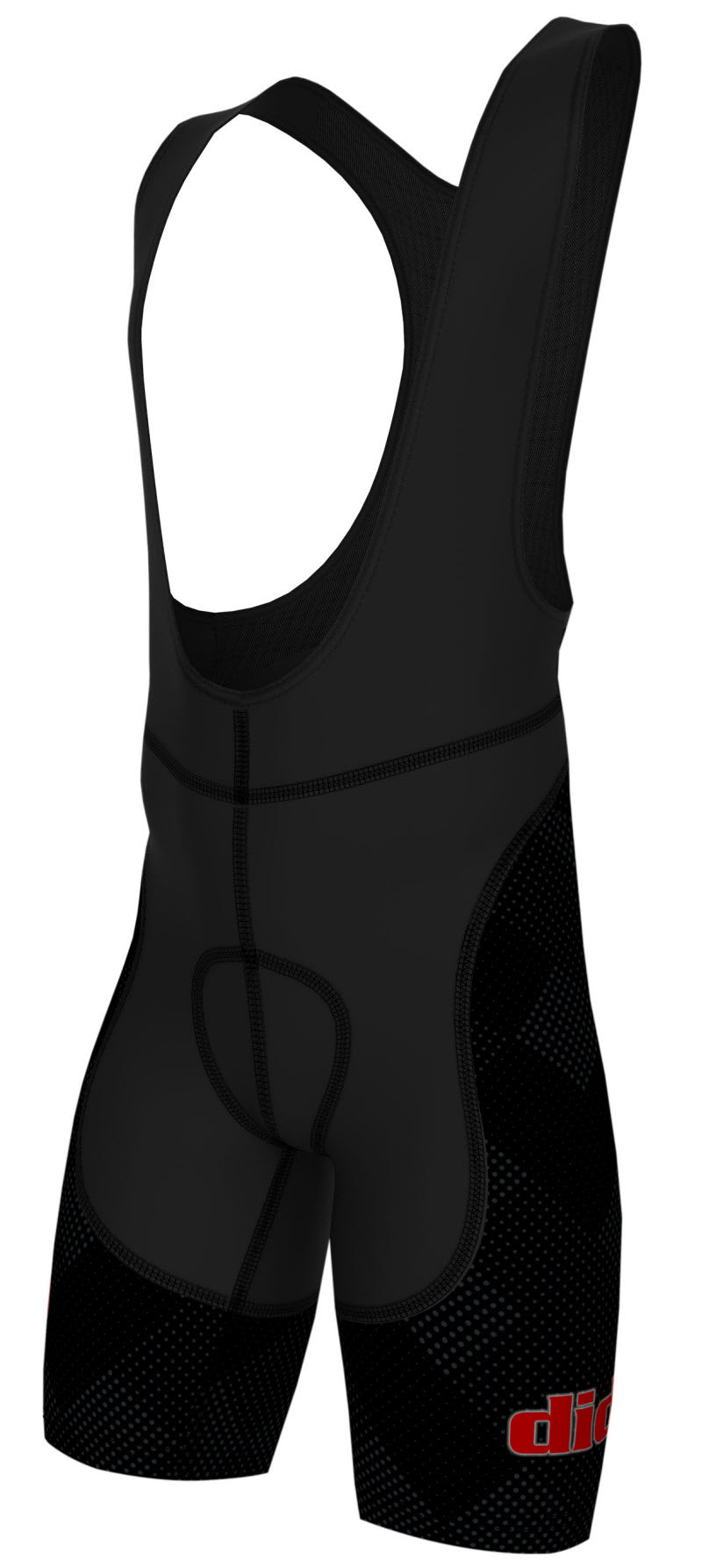 DiDOO Men's Classic Quick Dry Padded Cycling Bib Shorts Black and Grey