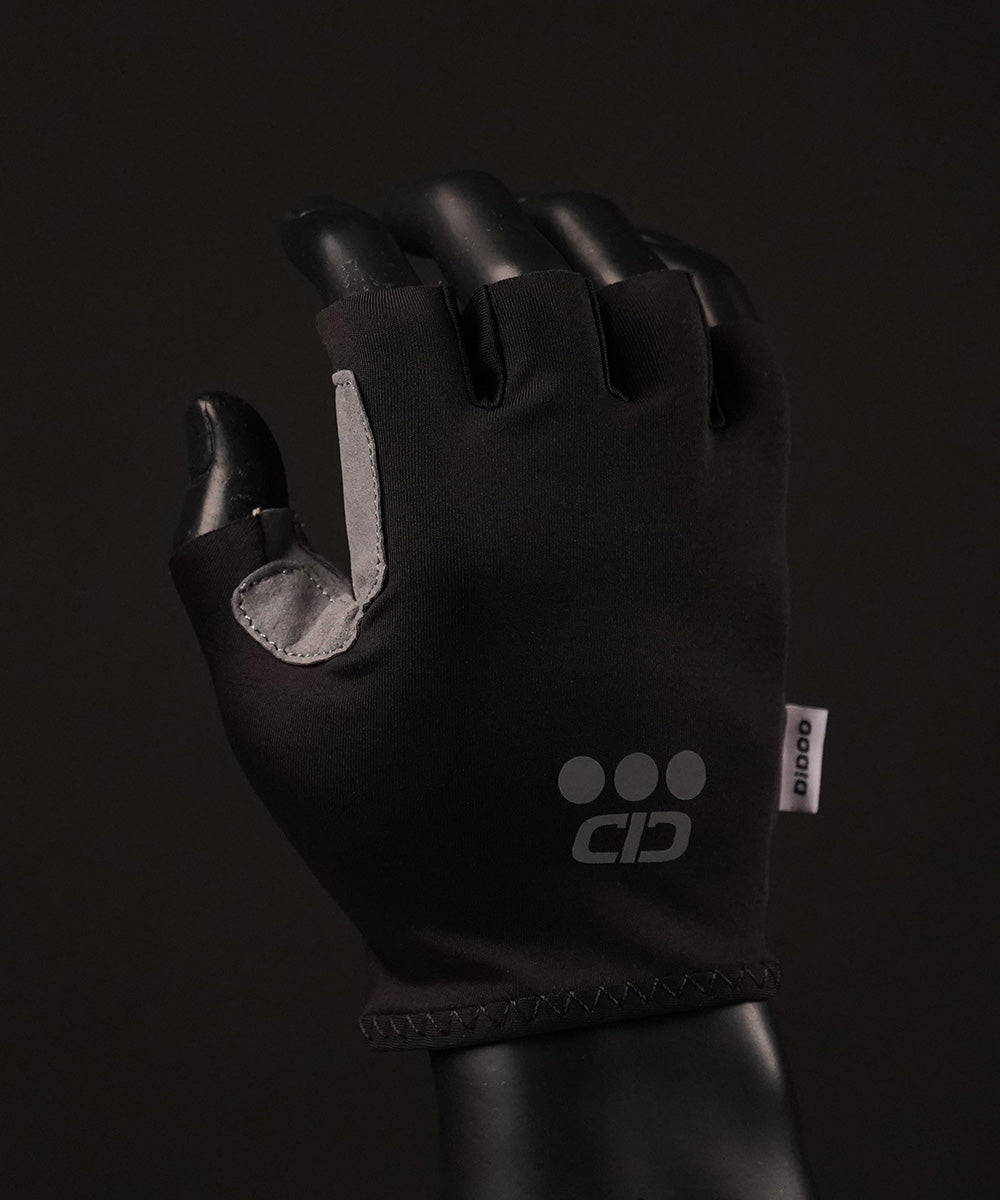 DiDOO Smart Pro Lightweight Short Finger Cycling Gloves Black Colour