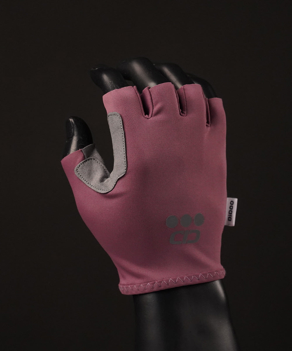 DiDOO Smart Pro Lightweight Short Finger Cycling Gloves Voilet Colour