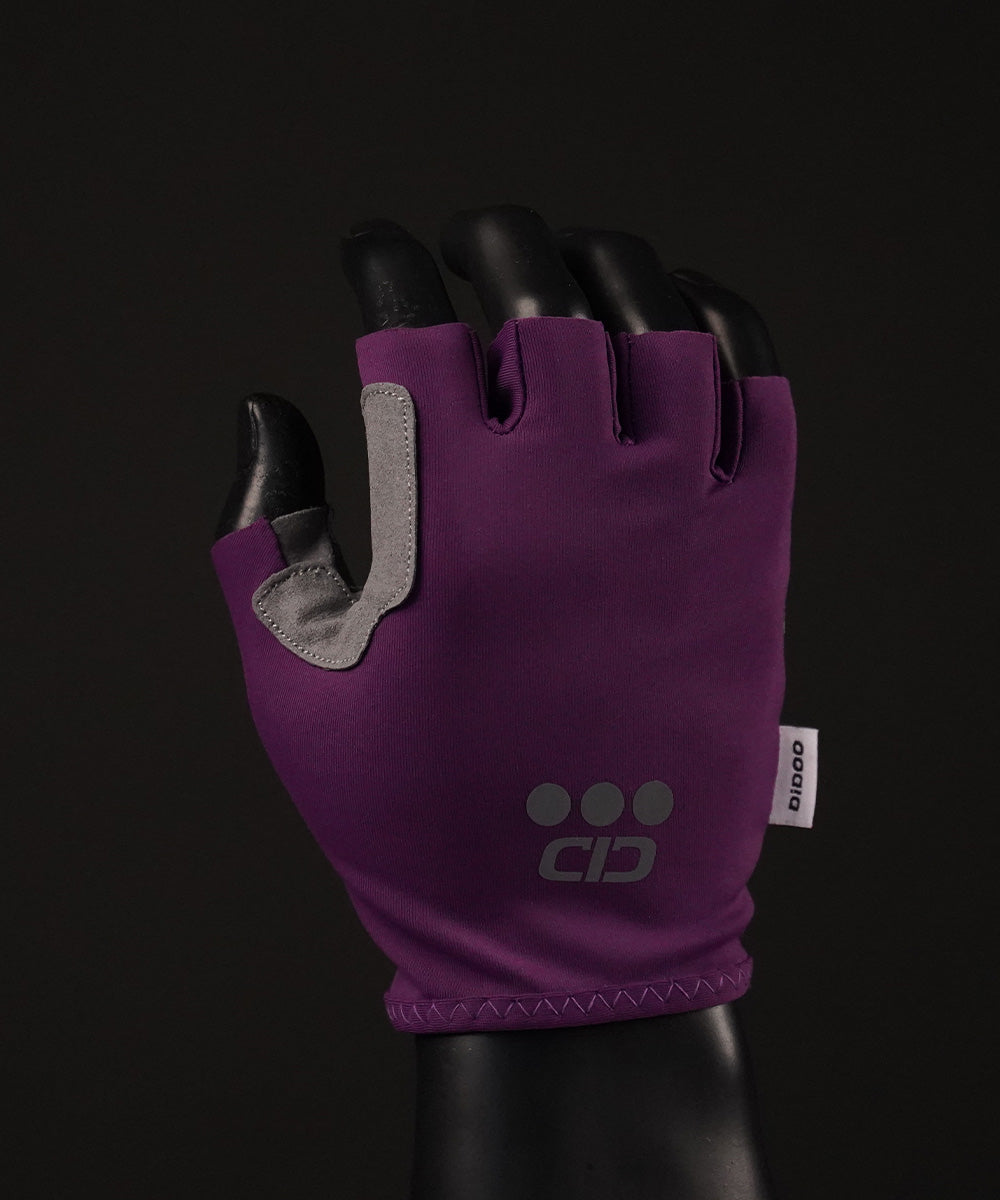 DiDOO Smart Pro Lightweight Short Finger Cycling Gloves Purple Colour