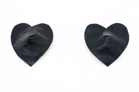 Real Leather Heart Pasties
