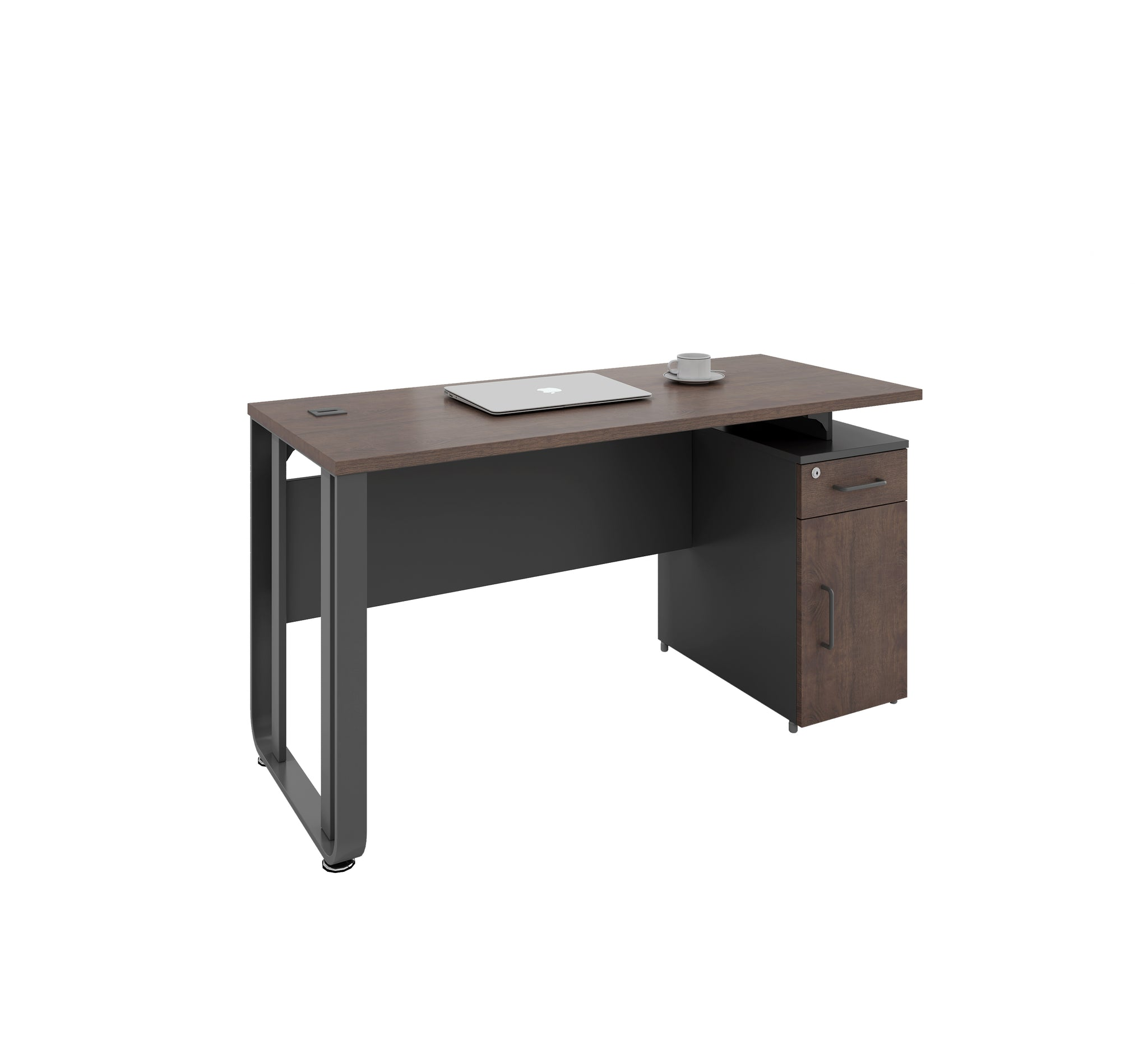 OS Series Standard Desk With Cabinet