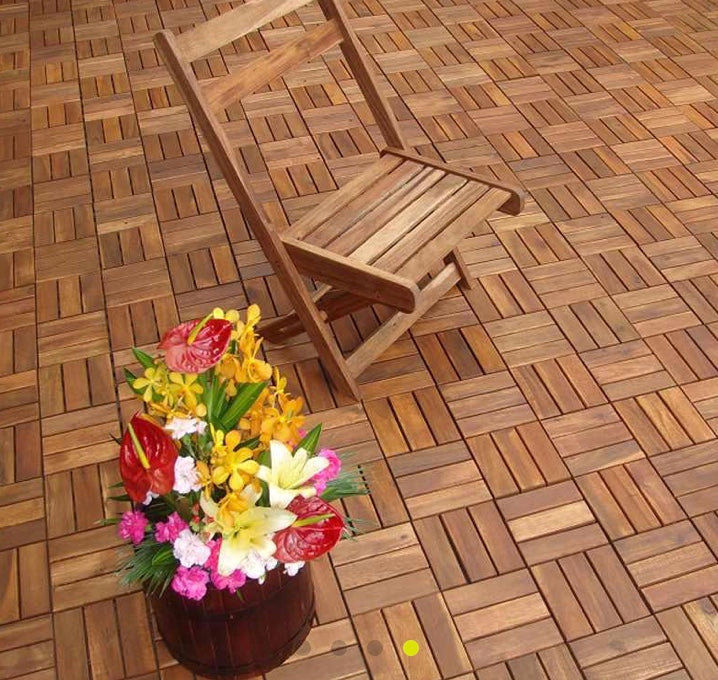 Deck Tile Solid Acacia Wood